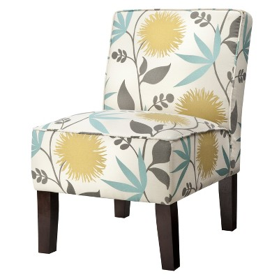 burke slipper chair gray threshold target rh target com Armless Upholstered Chairs Armless Upholstered Chairs