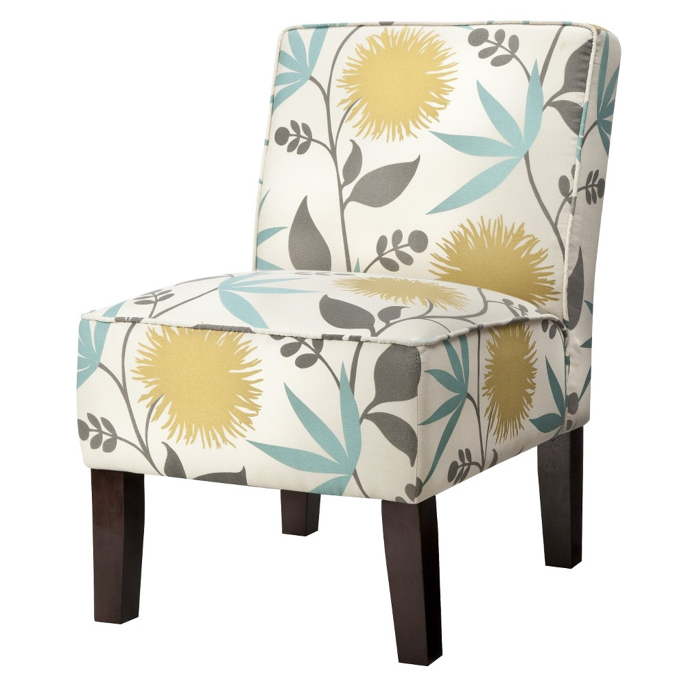Burke Accent Print Slipper Chair - Polly Aegean - Threshold