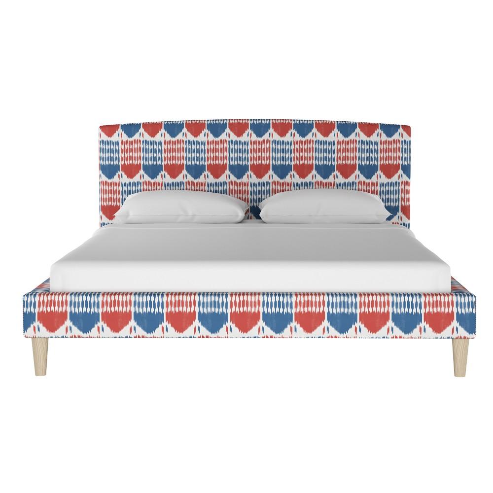 Curved Platform Bed Twin Tar Ikat - Threshold, Ikat Multi