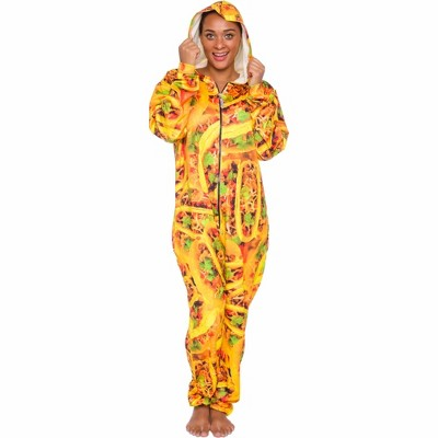 FUNZIEZ! Taco Print Slim Fit Adult Unisex Novelty Union Suit