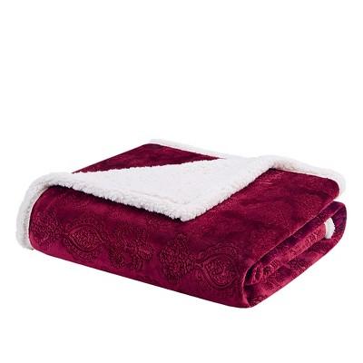 """60""""x70"""" Celia Textured Plush Throw Blanket"""