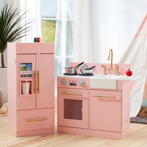 teamson kids urban luxury play kitchen pink target