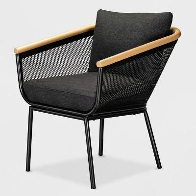 Bangor Patio Dining Chair Black