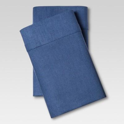 Linen Blend Pillowcase Set (Standard)Metallic Blue - Threshold™