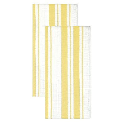 2pk Cotton Striped Dish Towels - MU Kitchen