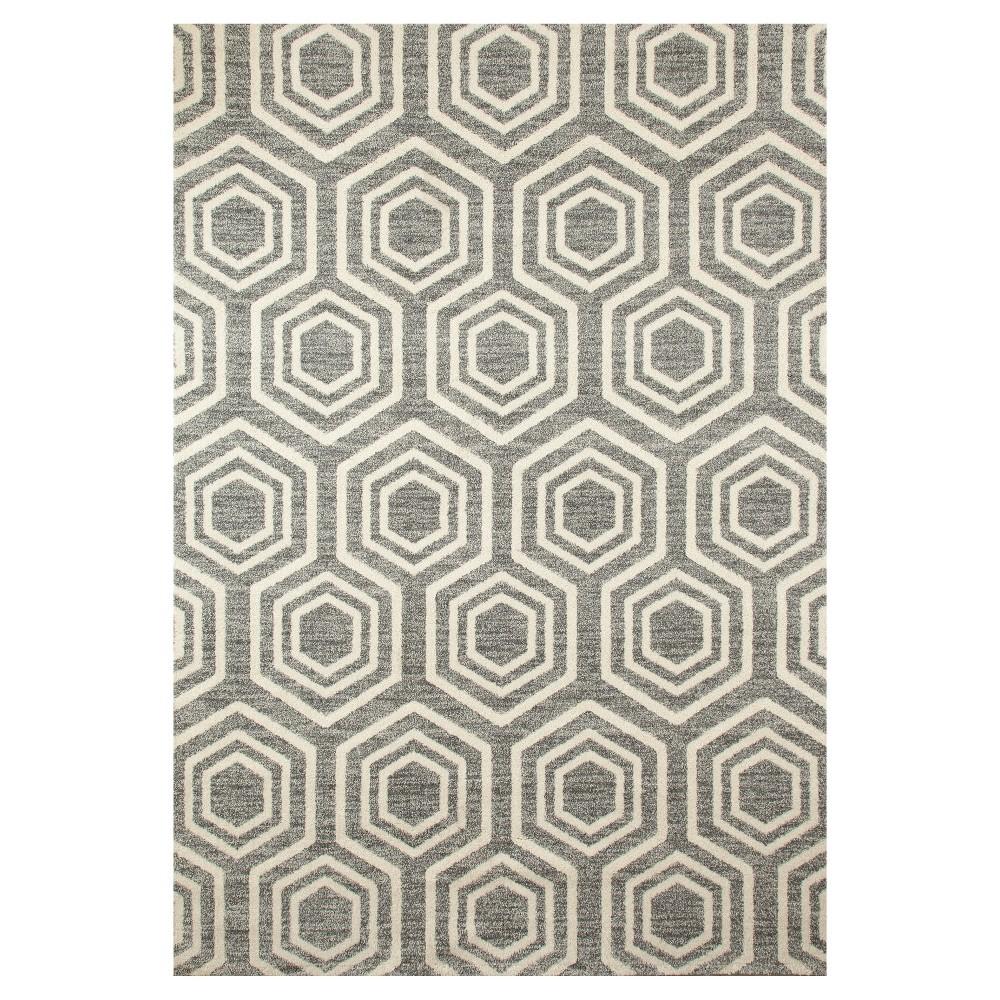 Gray Abstract Woven Area Rug - (7'X9') - Art Carpet