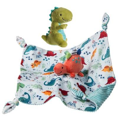 Mary Meyer Pebblesaurus Taggie Set - Pebblesaurus Blanket & Soft Baby Rattle