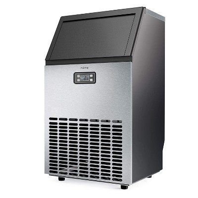 hOmeLabs Freestanding Commercial Ice Maker Machine with Panel and Scoop for Restaurants, Bars, Homes, and Offices, 29 Pound Capacity, Stainless Steel
