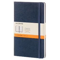 """Moleskine Composition Notebook, Hard Cover, College Ruled, 240 sheets, 5"""" x 8"""" - Blue"""