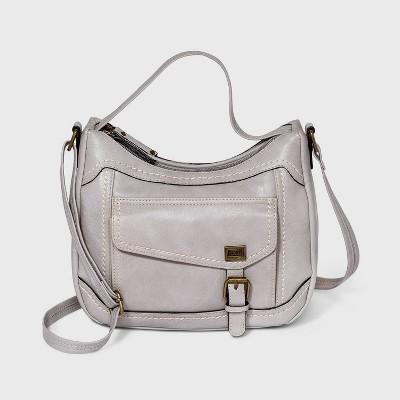 Concept Top Handle Zip Closure Crossbody Bag