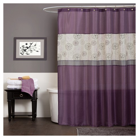 Covina Shower Curtain Purple - Lush Decor - image 1 of 1