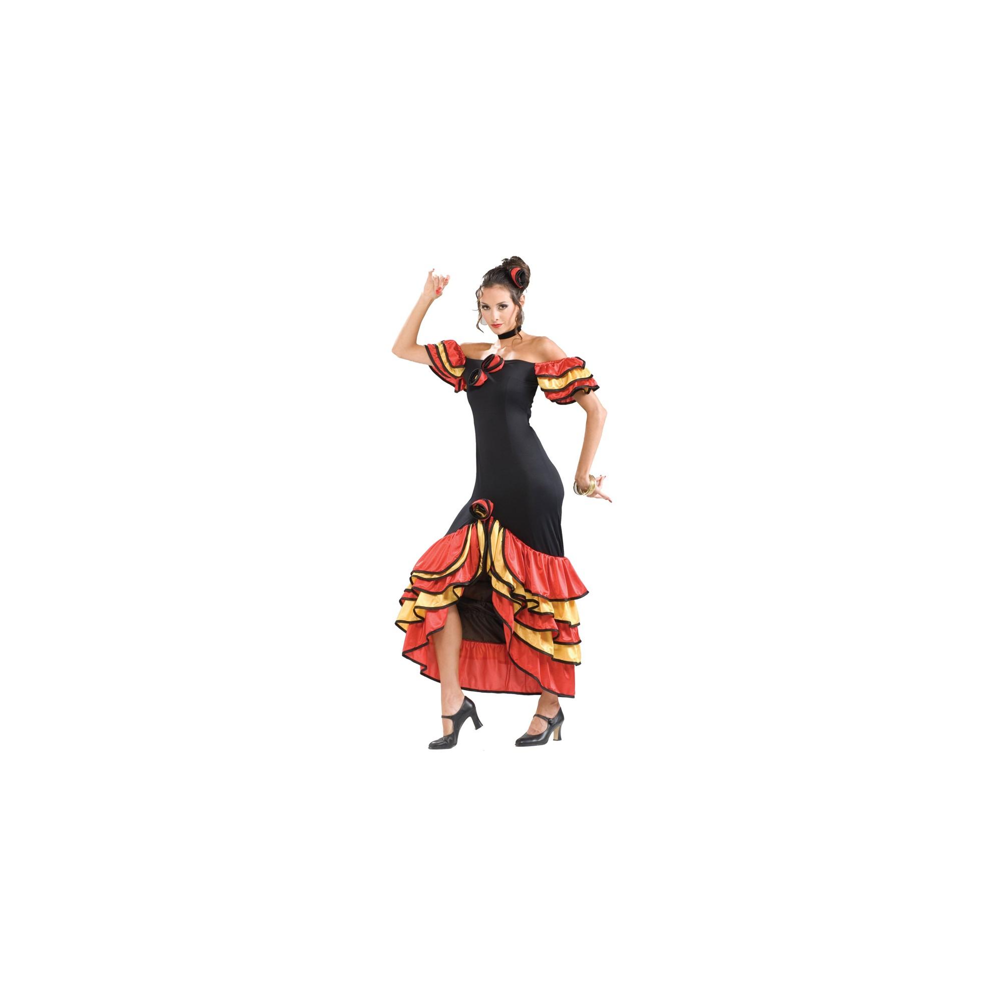 Halloween Women's Spanish Senorita Costume One Size, Black/Red/Yellow
