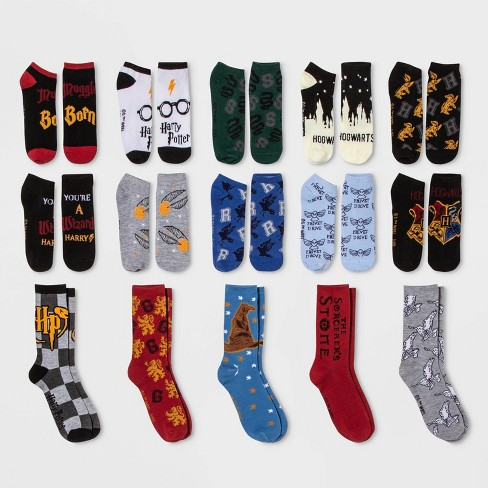 Women's Harry Potter Castle 15 Days of Socks Advent Calendar - Assorted Colors One Size - image 1 of 3