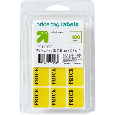 180ct Price Tag Labels Yellow - up & up™