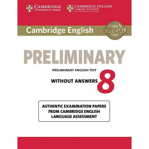 Cambridge English Preliminary 8 Student's Book Without