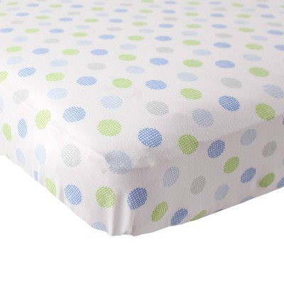Luvable Friends Unisex Baby Fitted Crib Sheet - Blue Crosshatch One Size