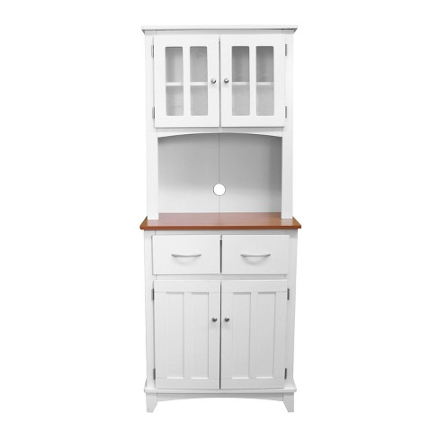 Traditional Microwave Cabinet White Cherry Home Source Industries