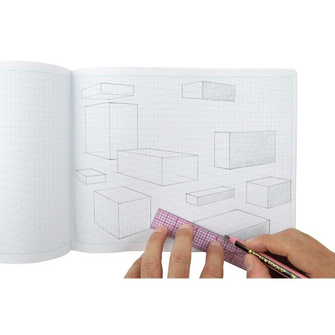 2-Point Perspective 3D Grid Sketchbook, 10-7/20 x 8 Inches, 60 sheets, pk of 24 - image 1 of 2