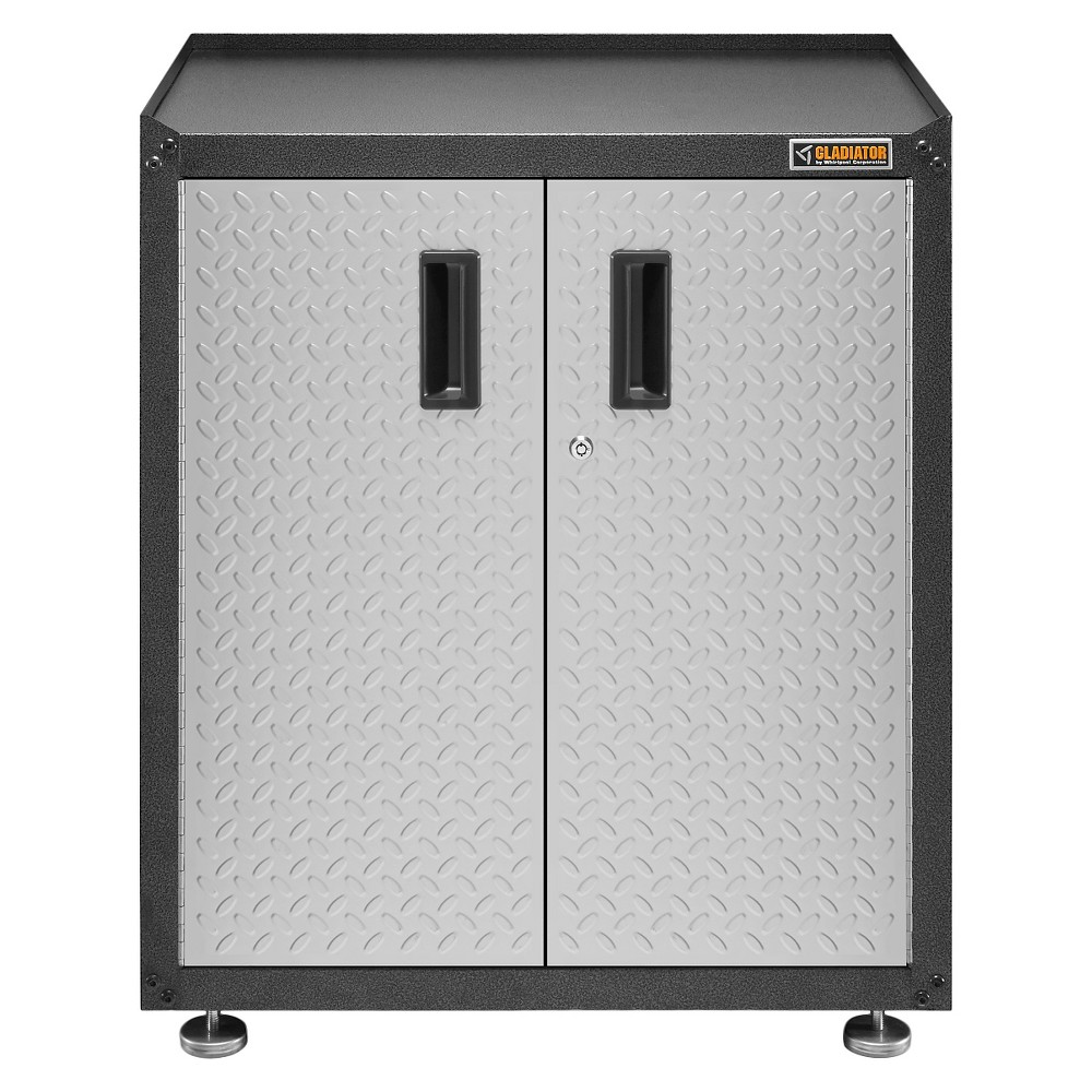 Gladiator Gearbox EZ Ready-To-Assemble Full Door - Black Steel With Silver Doors, Black Steel/Silver