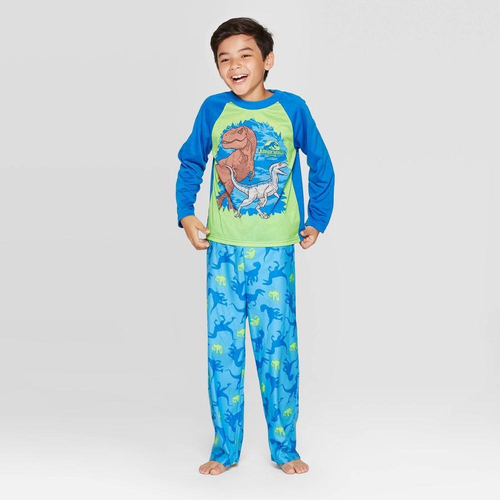 Image of Boys' Jurassic World 2pc Pajama Set - Blue 10, Boy's