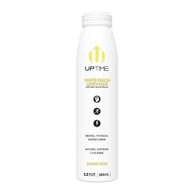 UPTIME White Peach Lemonade Sugar Free Energy Drink - 12 fl oz Bottle