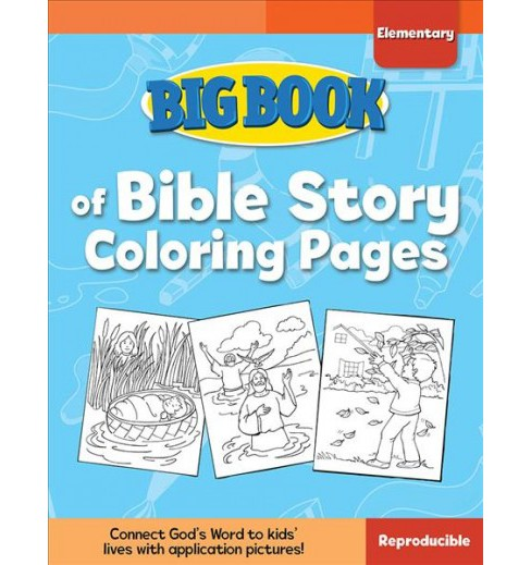 Big Book of Bible Story Coloring Pages for Elementary Kids (Paperback) (David C. Cook) - image 1 of 1