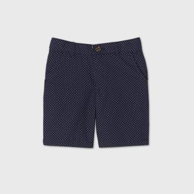 Boys' Flat Front Chino Shorts - Cat & Jack™ Navy/White