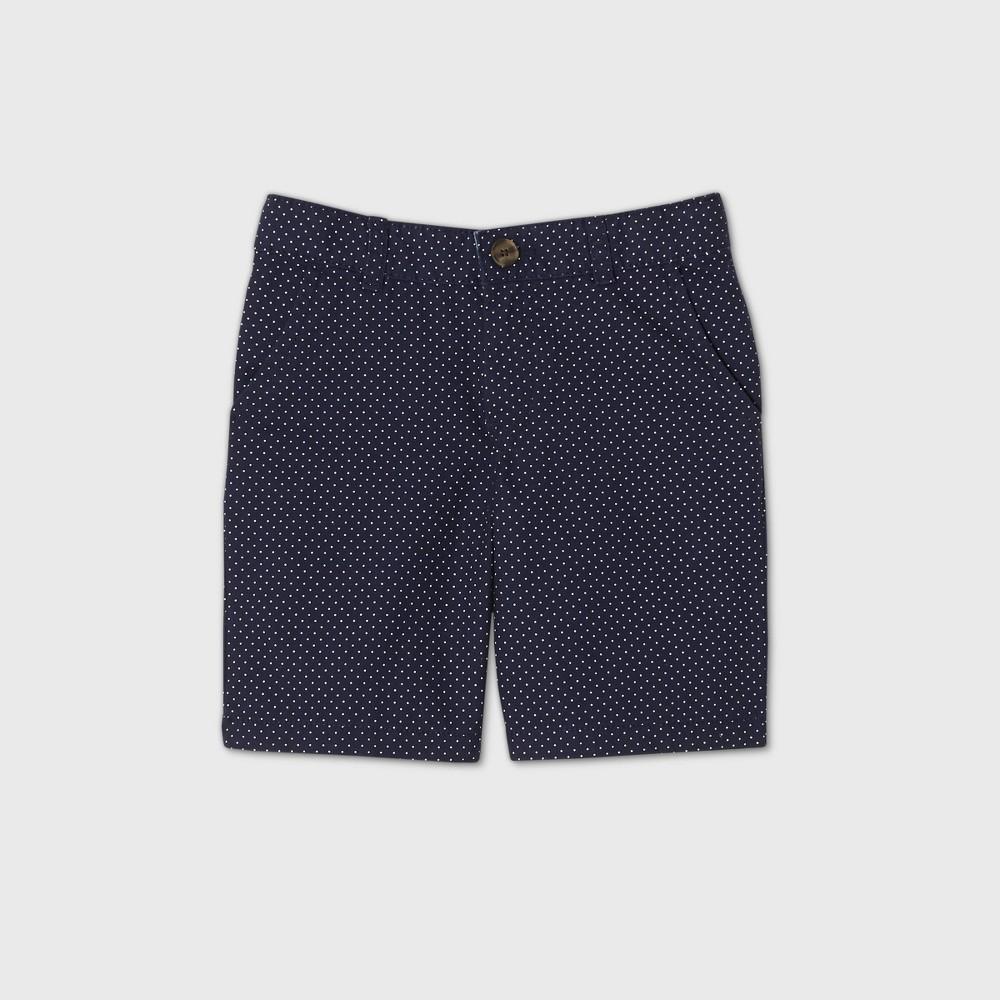 oversizeBoys Flat Front Chino Shorts - Cat & Jack Navy/White 12 Husky Reviews