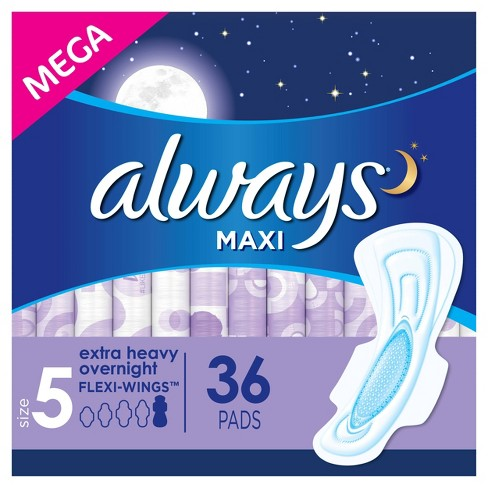 Always Maxi Extra Heavy Overnight Pads- Size 5 - image 1 of 4