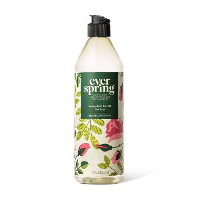 Rosewater & Mint Liquid Dish Soap - 18 fl oz - Everspring™