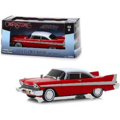 """1958 Plymouth Fury Red (Evil Version with Blacked Out Windows) """"Christine"""" (1983) Movie 1/43 Diecast Car by Greenlight"""