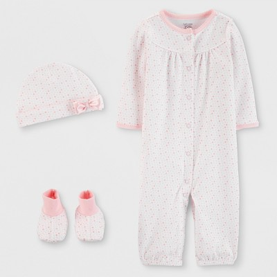 Baby Girls' 3pc Nightgown - Just One You® made by carter's Pink 3M