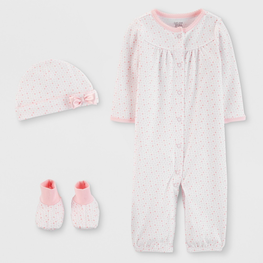 Baby Girls' 3pc Nightgown - Just One You made by carter's Pink 9M