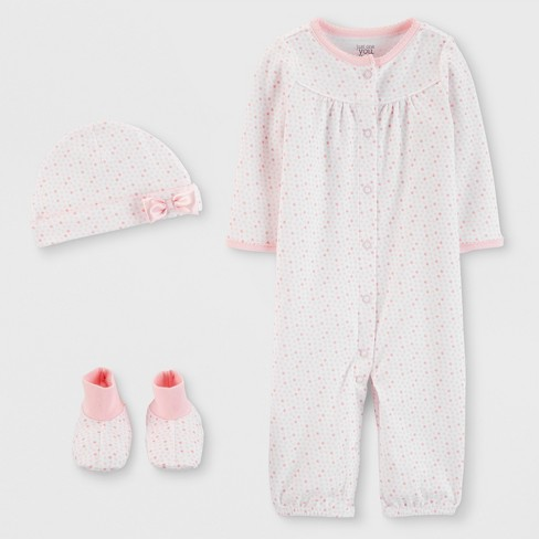 Baby Girls' 3pc Nightgown - Just One You® made by carter's Pink - image 1 of 1