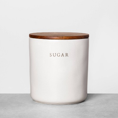 Sugar Stoneware Canister with Wood Lid - Hearth & Hand™ with Magnolia
