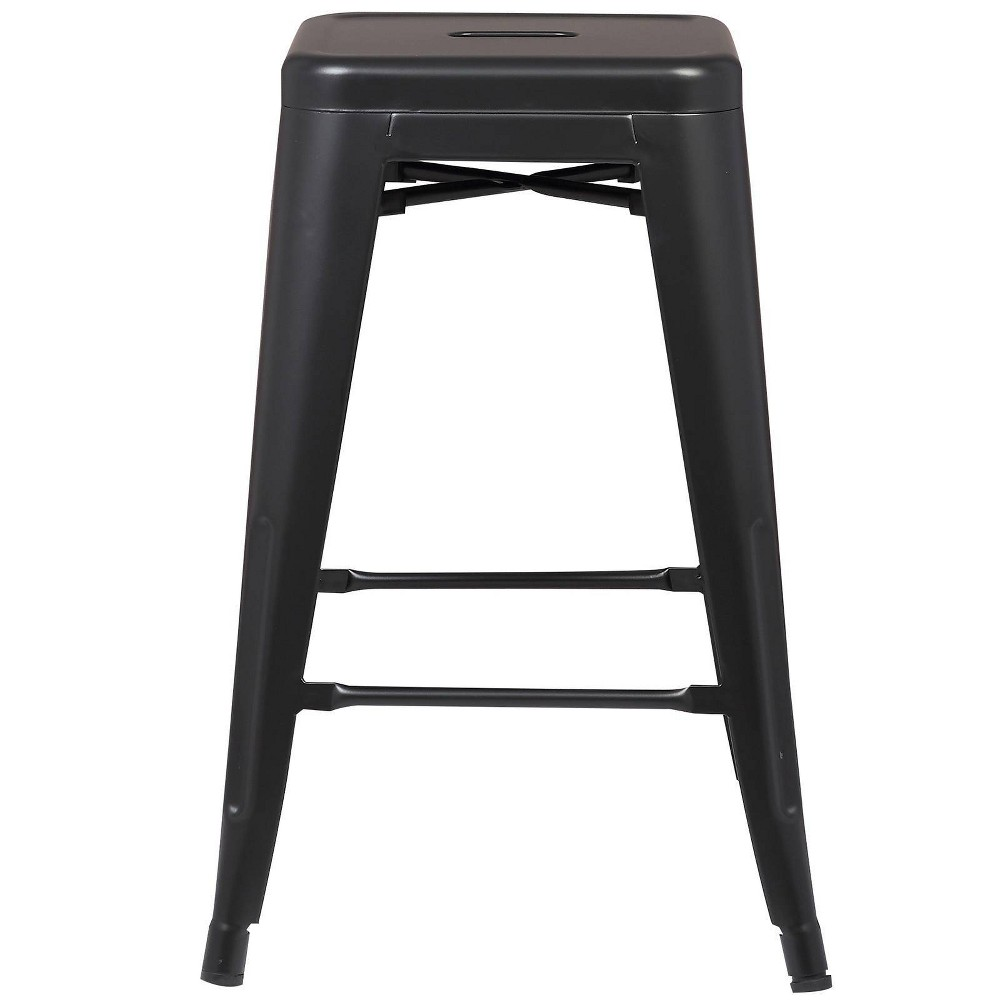 "Image of ""24"""" Franco Industrial Counter Height Stool Black - Poly & Bark"""