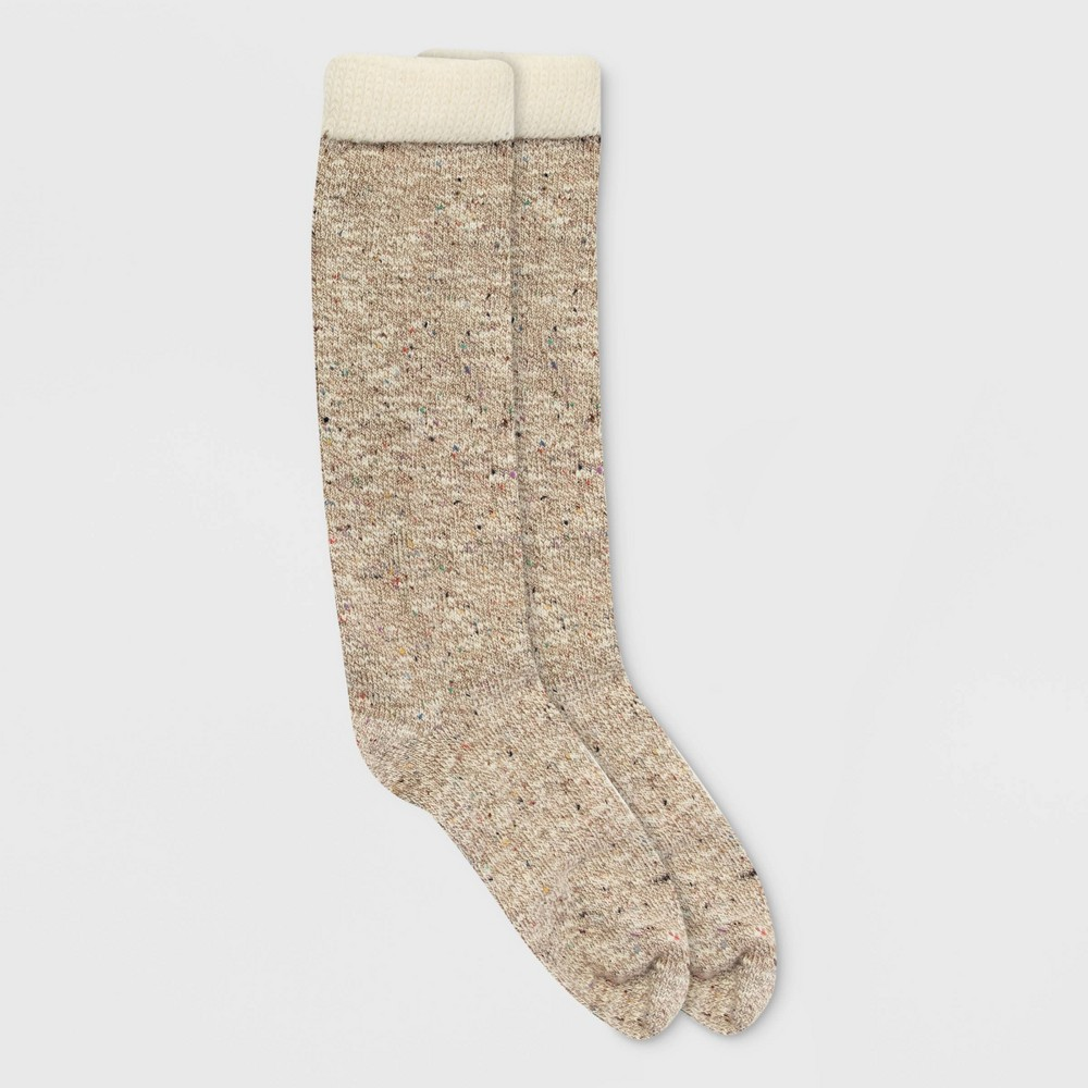 Image of Alaska Knits Women's Nep Wool Blend Knee High Boot Socks - Tan 4-10, Women's, Size: Small