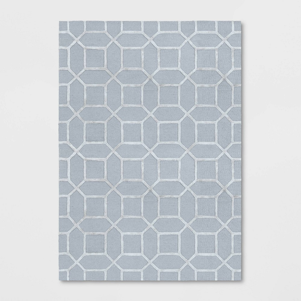 7'X10' Geometric Tufted Viscose Area Rug Gray - Opalhouse was $299.99 now $149.99 (50.0% off)