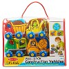 Melissa & Doug Pull-Back Construction Vehicles - Soft Baby Toy Play Set of 4 Vehicles - image 3 of 3