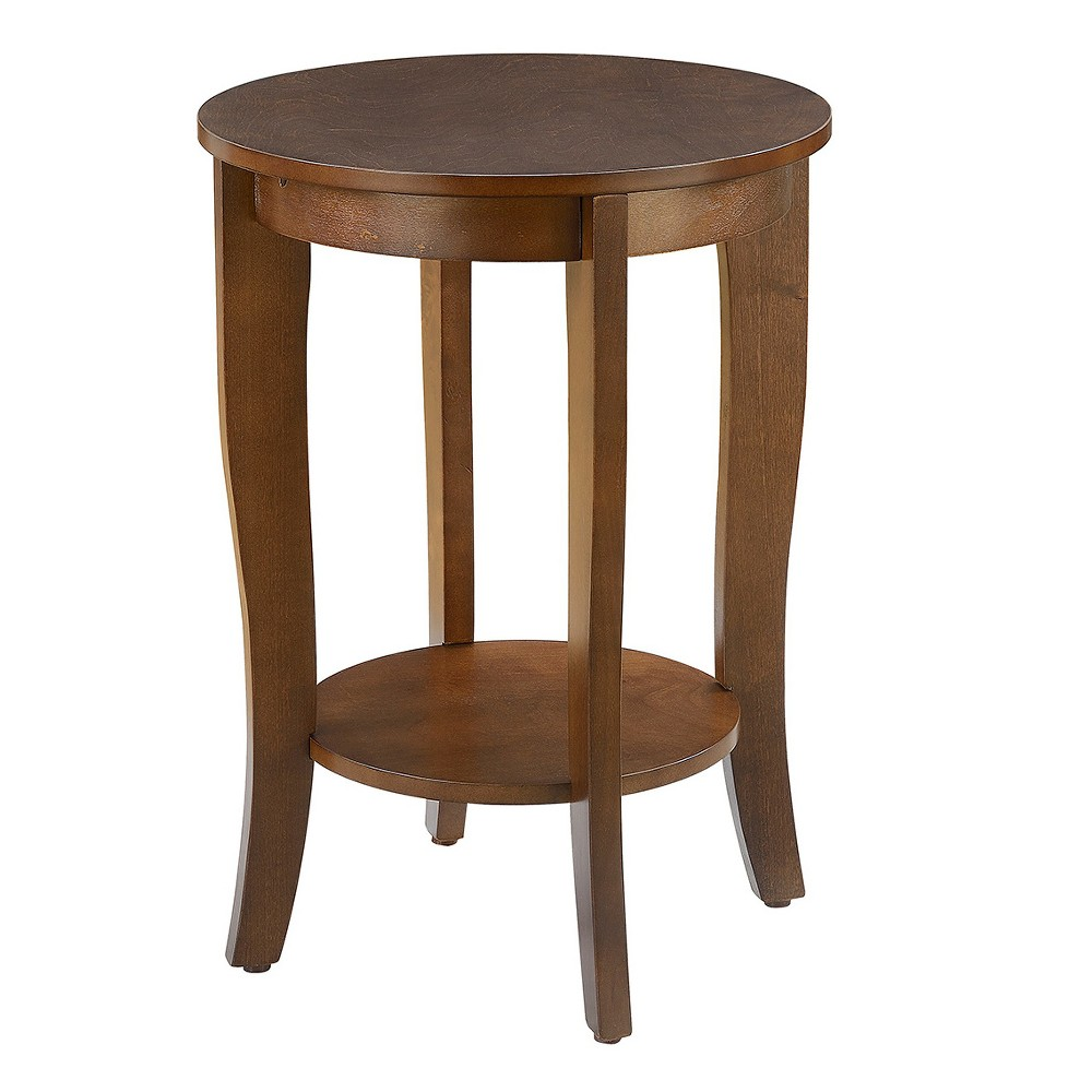 American Heritage Round End Table - Espresso (Brown) - Johar Furniture