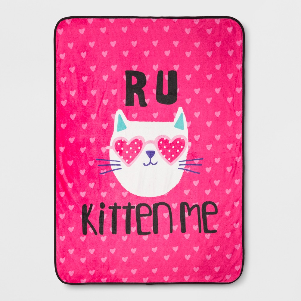 "Image of ""R U Kitten Me 46""""x60"""" Throw Blanket"""