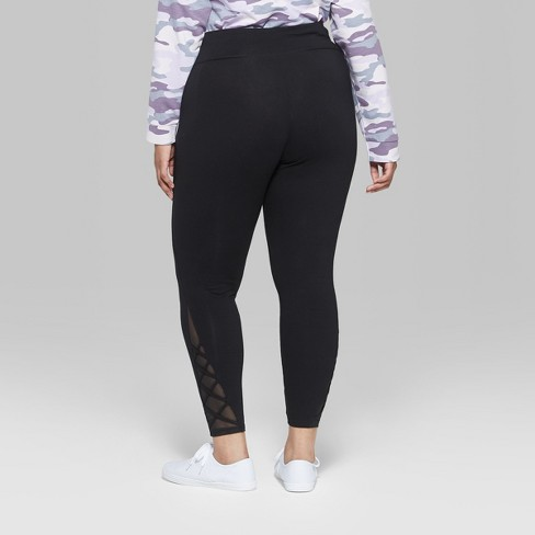 8aae22e8428 Women s Plus Size Mesh Strappy Ankle Detail Leggings - Wild Fable™ Black.  Shop all Wild Fable