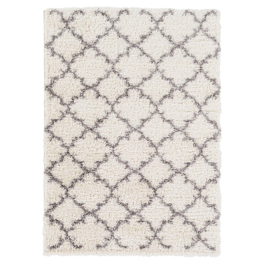 White Solid Tufted Area Rug - (8'X11') - Surya