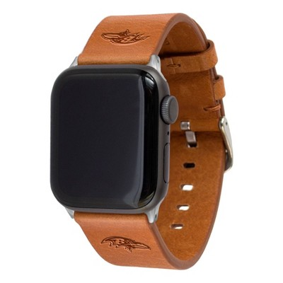 NFL Baltimore Ravens Apple Watch Compatible Leather Band 42/44mm - Tan