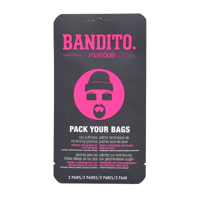 Masque Bar Bandito Pack Your Bags Eye Puffiness Minimizing Patches - 2ct