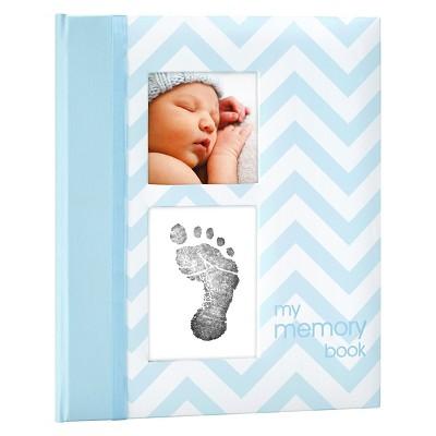 Pearhead Chevron Baby Memory Book - Blue