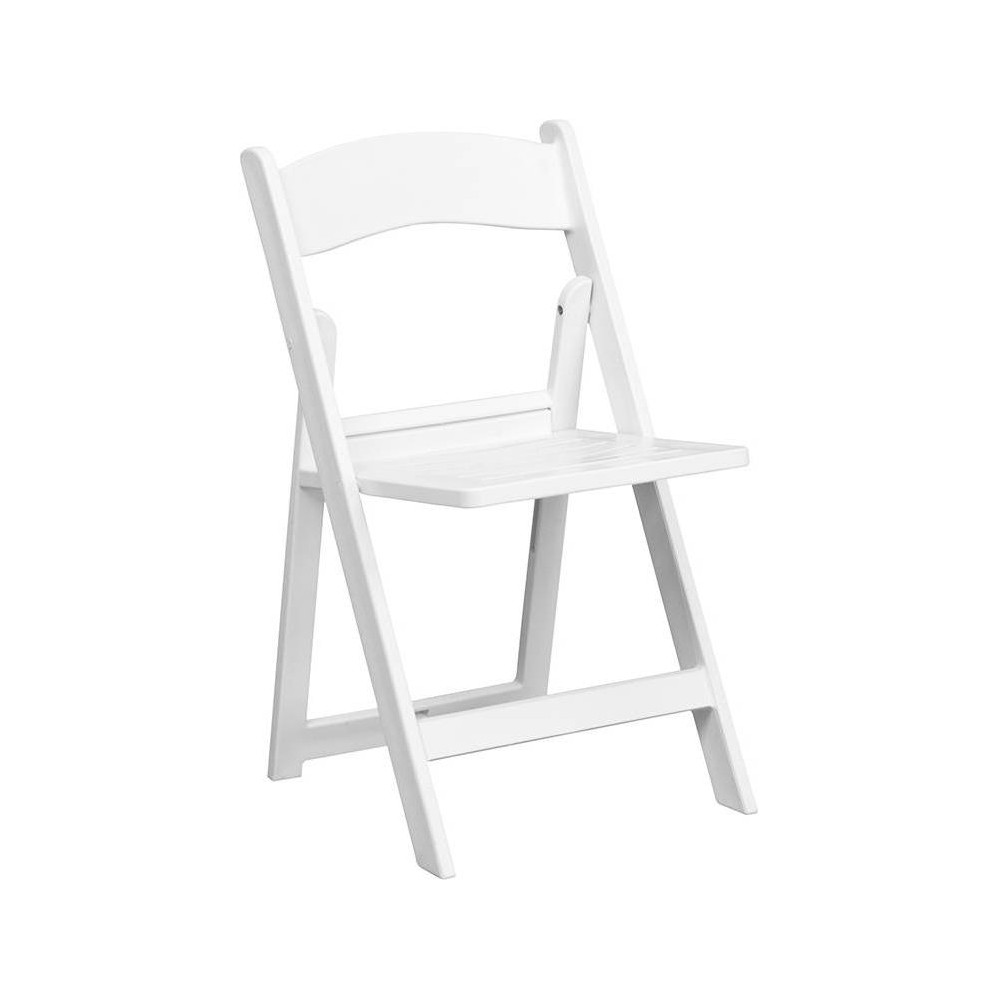 Riverstone Furniture Collection Folding Chair Resin White