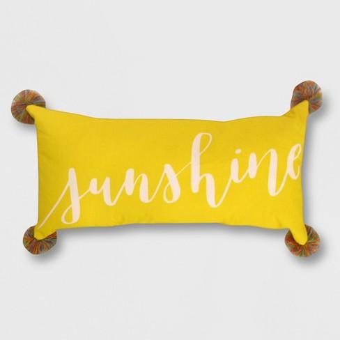 Lumbar Sunshine Outdoor Pillow Opalhouse Target