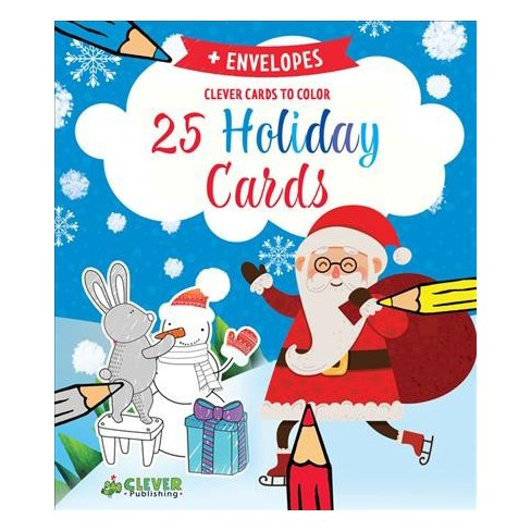 25 holiday cards clever cards to color stationery - Target Photo Christmas Cards