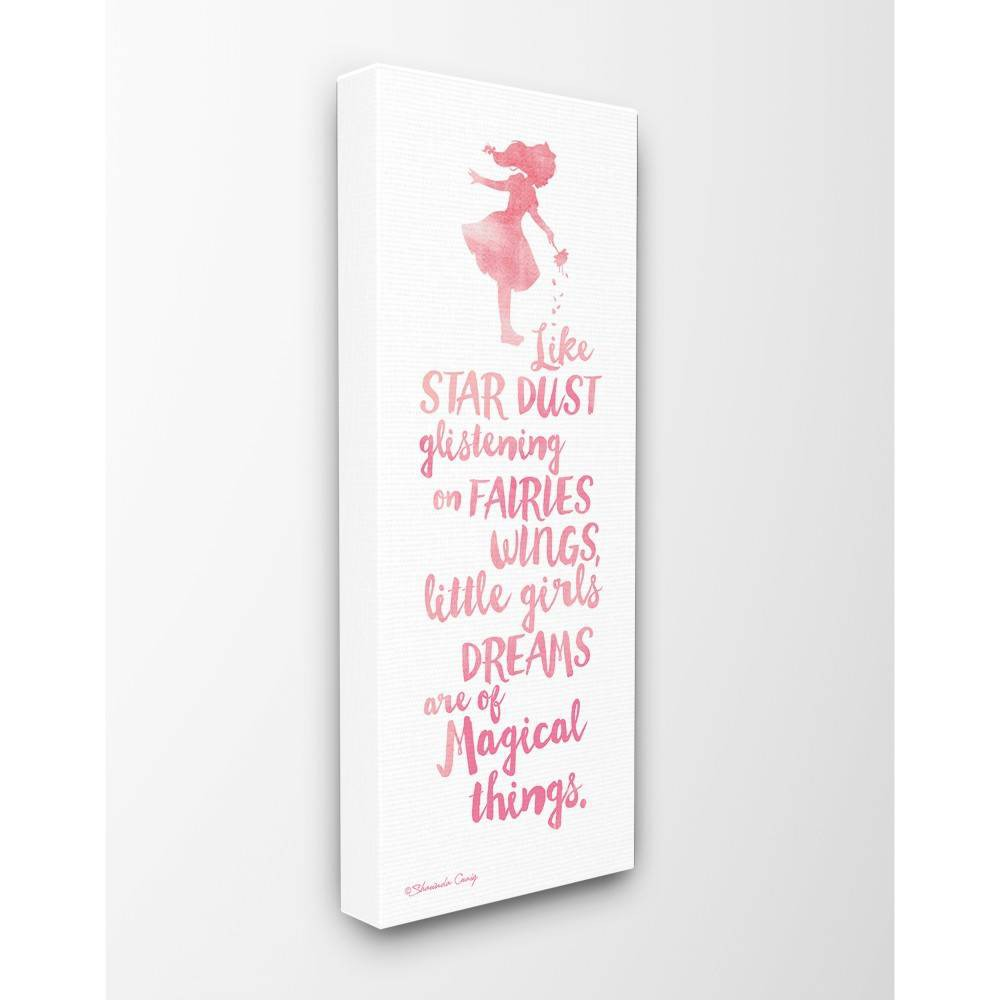 "Image of ""10""""x1.5""""x24"""" Little Girls Dream of Magical Things Stretched Canvas Wall Art - Stupell Industries"""
